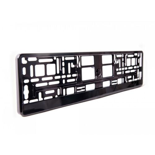 1 X Negro Brillante Número De Matrícula Envolvente Soporte Reino Unido presiona placas compatible M