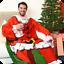 Genuine-snug-rug-noel-theme-a-manches-couverture-chaud-doux-jete-polaire-de-noel miniature 6