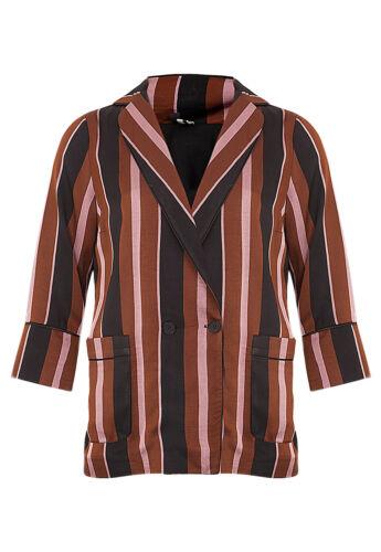 Blazer Størrelse Rrp New £ Jacket 68 Stripe Uk12 Topshop Eur40 Us8 Sq514xtw