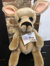 Kaycee Bears 'Bonza' Collectable Kangaroo Limited Edition no. 9 of 50 BNWT + bag