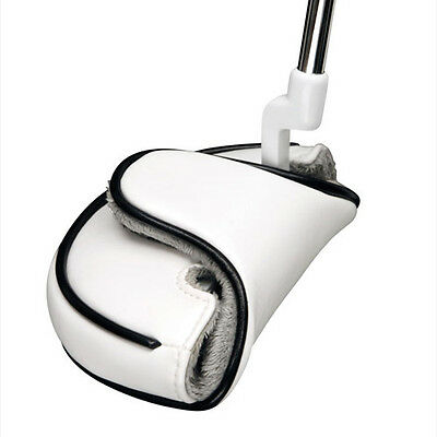 Neoprene White Mallet Putter Golf Club Headcover Head Cover