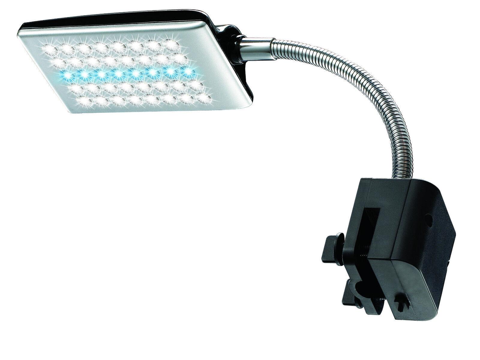 Aquarium Poisson 40 LED A Clipper sur Lampe Puisard avec 2 Modes et Souple Bras