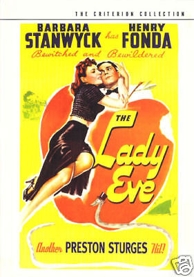 The lady eve Barbara Stanwyck  vintage movie poster
