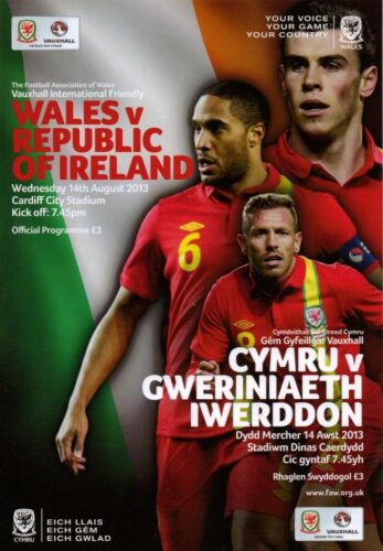 2013 WALES v REPUBLIC OF IRELAND 14th AUGUST 2013