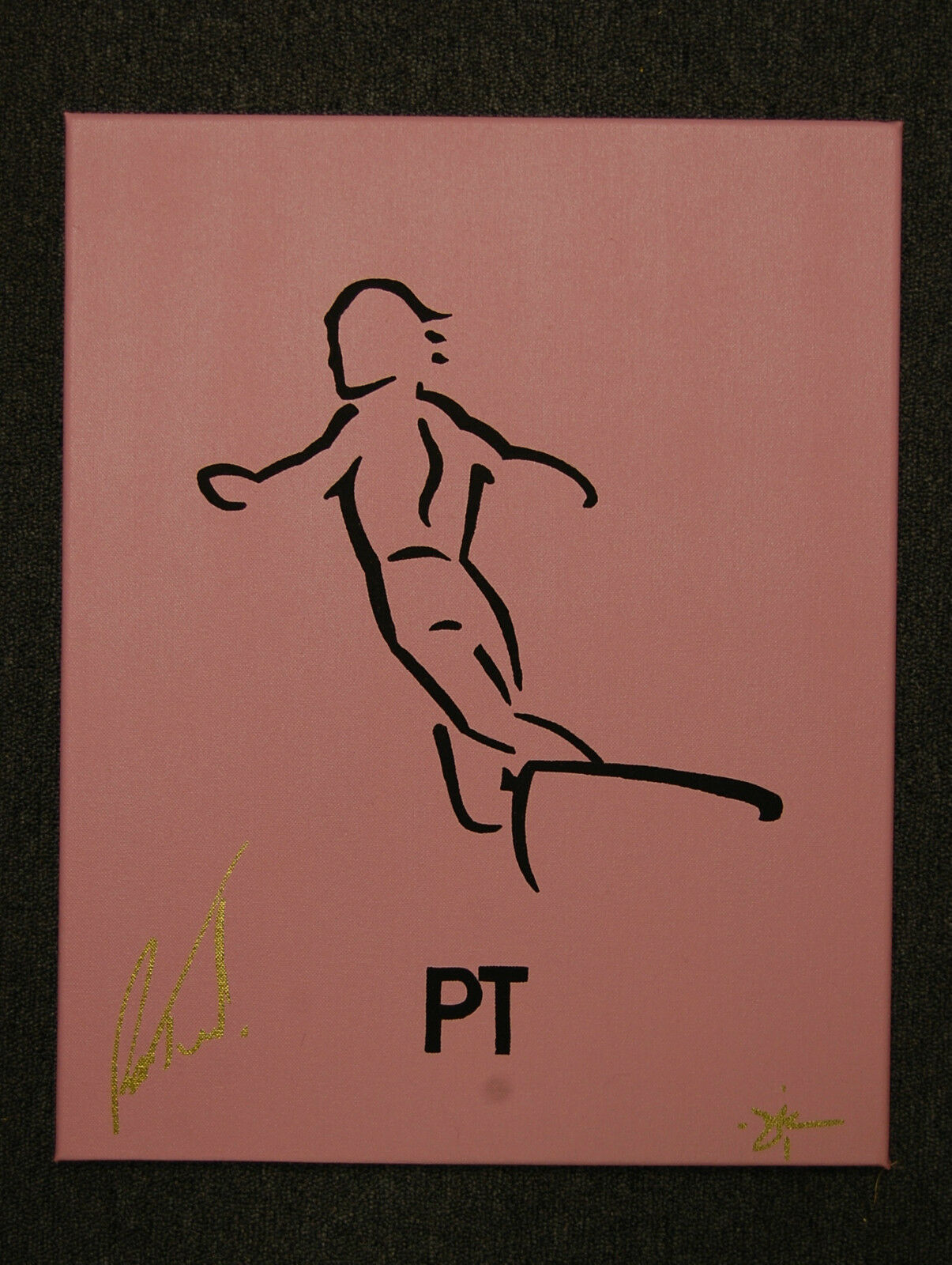 Surf Legends Line Art Painting by Dave Reynolds Peter PT Townend Signed
