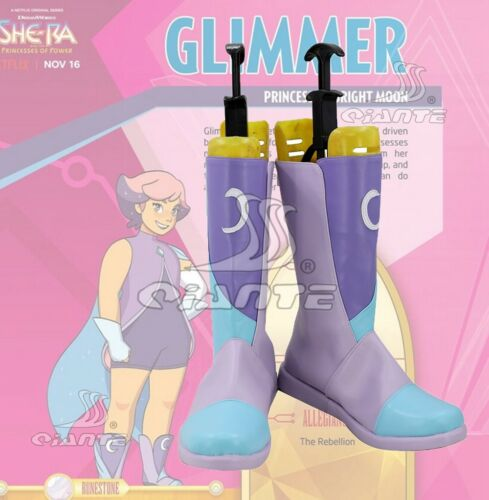 She-Ra And The Princesses Of Power Glimmer Cosplay Boots Shoes Customized New
