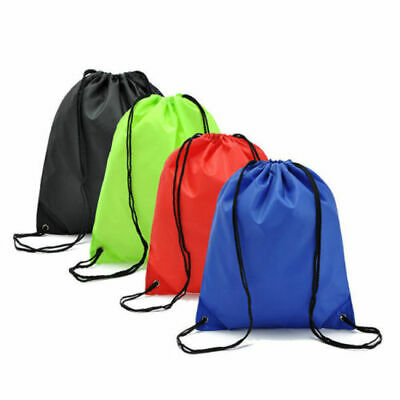School Drawstring Book Bag Sport Gym Swim PE Dance Girls Boys Kids Backpack uk