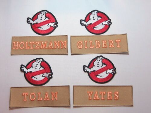 Ghostbusters No Ghost and New Tan Name Tag Set of 8 Embroidered Iron On Patches