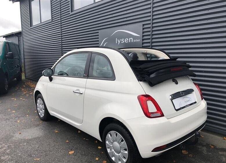 Fiat 500C 1,2 Collezione Benzin modelår 2017 km 11000 Hvid