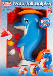 Juguete-de-bano-cascada-Delfin-Agua-12m-de-Rueda-de-pulverizacion-de-giro