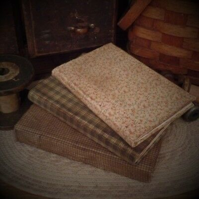 Primitive~Aged~Tattered Homespun Covered Book~Twine Bow~Antiqued Doily~Handmade~
