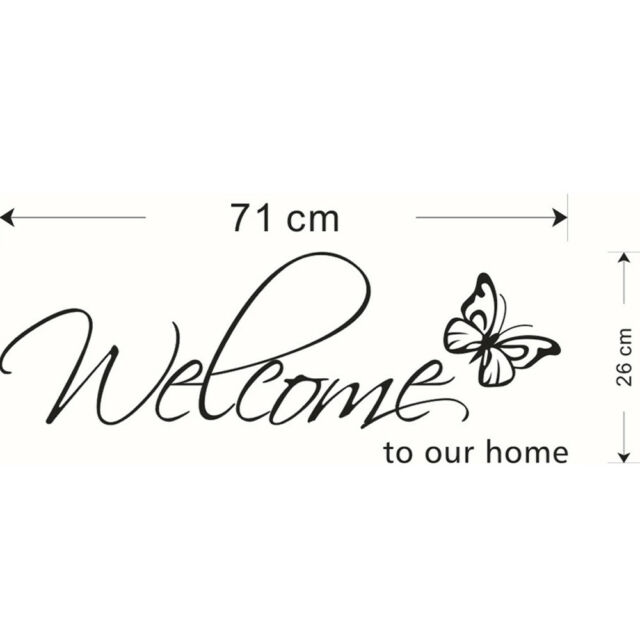 Room Decor English Wall Stickers Welcome To Our Home Vinyl Decal Removable