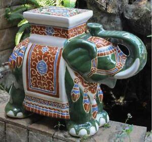 Amazing Details About Porcelain Garden Stool Glazed Ceramic Elephant Plant Stand Patio Accent Table Inzonedesignstudio Interior Chair Design Inzonedesignstudiocom