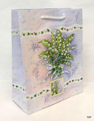 Geschenktüte 40409 Maiglöckchen Papiertüte Geschenktasche 18 x 23 x 8 cm