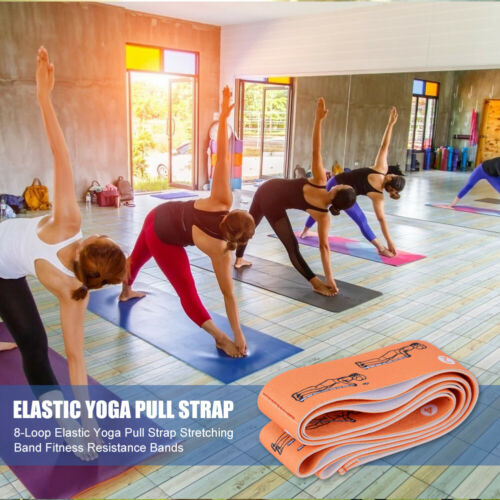 8-Loop Elastic Yoga Pull Strap Stretching Band Fitness Resistance Bands ③