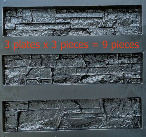 "9 pcs molds ABS plastic for casting gypsum decorative stone  /""Alaska/"""