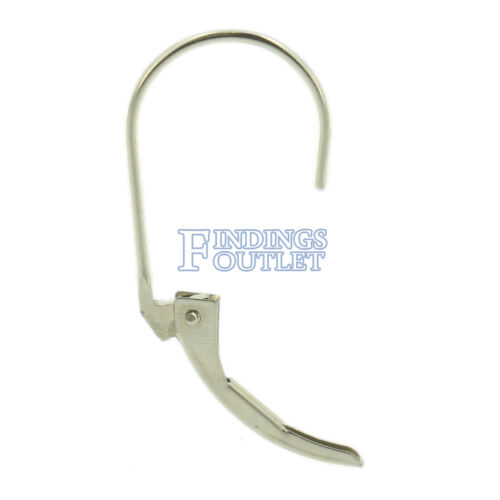 14k White Gold Leverback Earring Mounting Dangling Setting Standard Plain Style