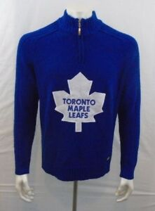 57f3970a3 Toronto Maple Leafs NHL Hockey Men s Blue Long Sleeve 1 4 Zip Up ...