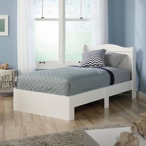 Sauder 416546 Soft White Twin Platform Bed With Headboard | eBay
