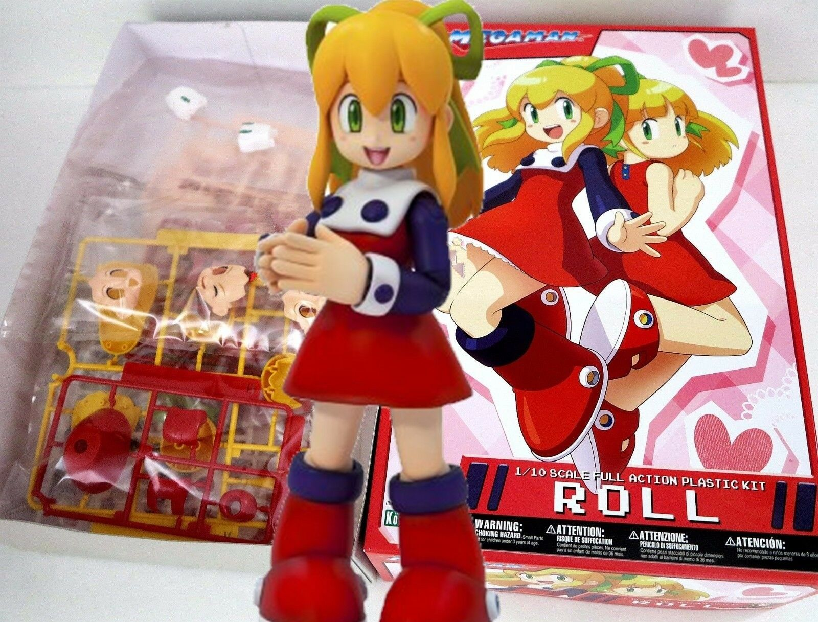 Kotobukiya Mega Man Roll Plastic Model Kit Montaje Acción 1 10 Raro