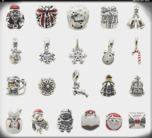Sleigh Snowflake Jolly Santa Bells Snow Globe .925 Silver charm ...