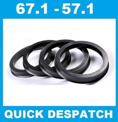 4 X 67.1-57.1 Anillos de Aleación Rueda Localización HUB Espita Ajuste VW Caddy