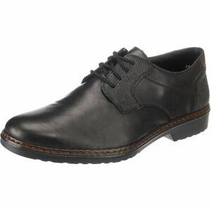 Details zu Rieker Herren Business Schuhe Leder 16541 00 Halbschuhe Schnürschuhe Gr 42 *NEU*