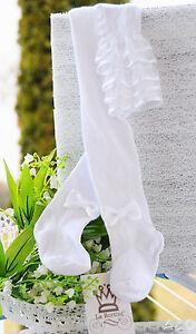 Strumpfhose Weiße Festliche Baby /& Kinder Taufe Weiß 48 50 56 62 68 74 80 86