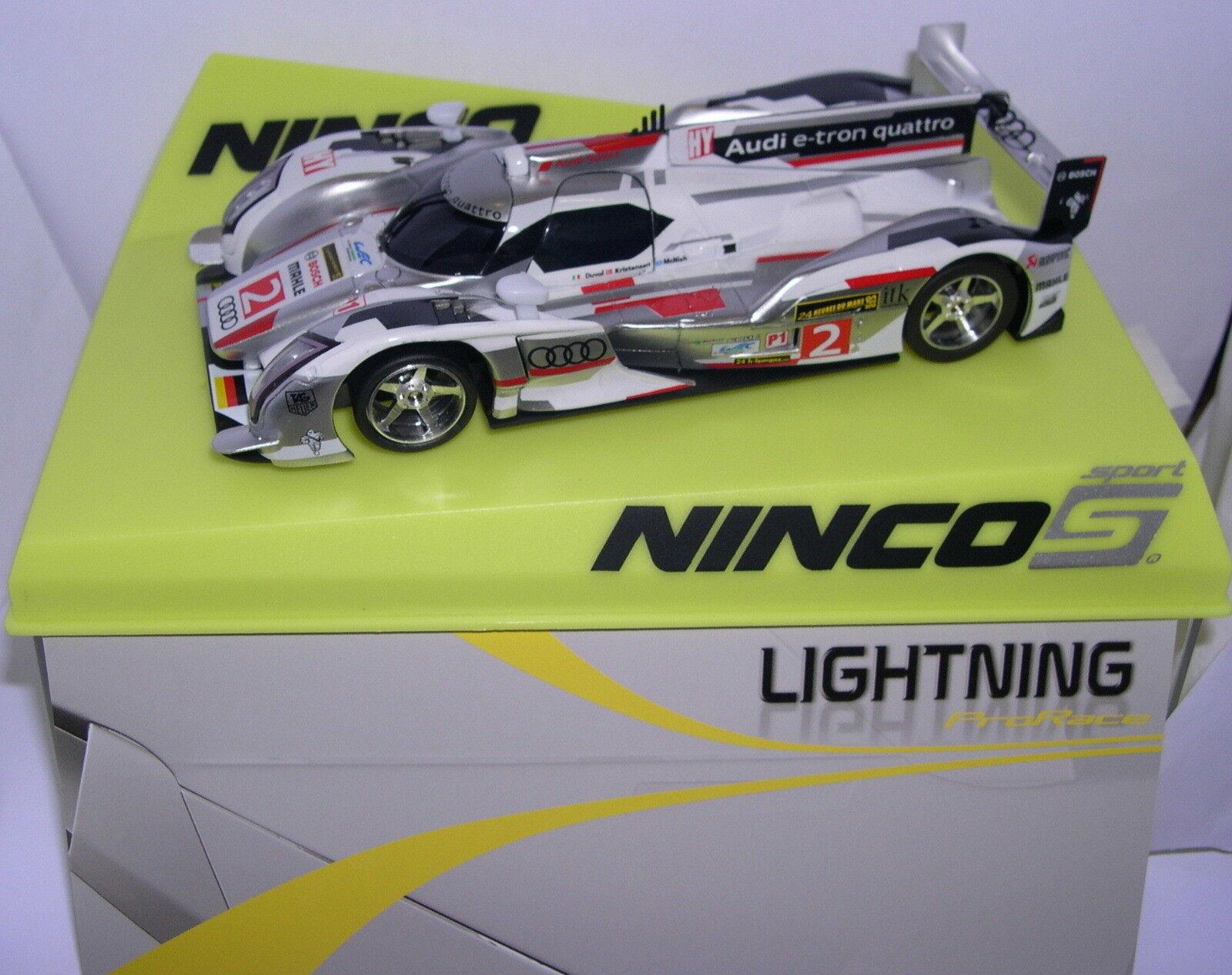Ninco 50646 slot car audi R18 N2 ULTRA Duval-Kristensen-McNish lightning MB