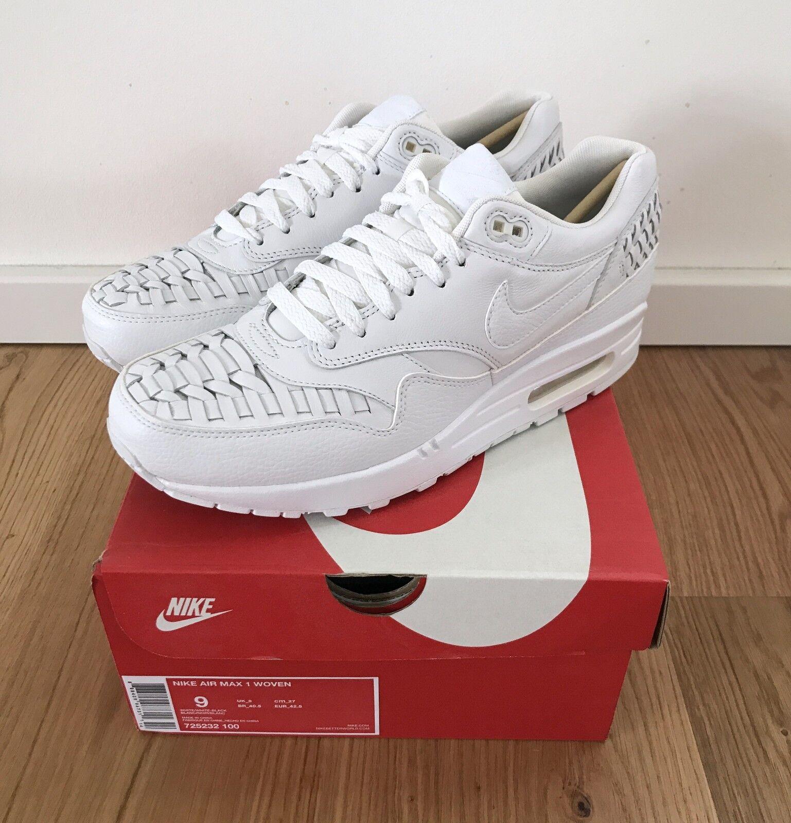 Nike Air Max 1 Woven Premium 42,5 Eur / US 9725232 100 Neu Dead Stock