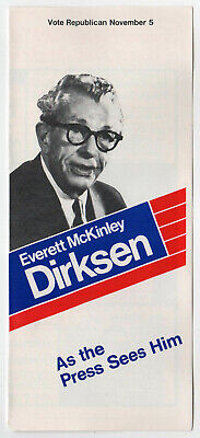 1960s /'Ev for US/' Everett McKinley Dirksen Senate Campaign Pinback Illinois