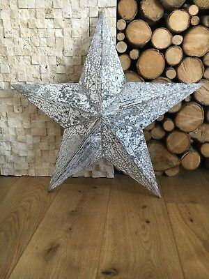 Armish white distressed hanging star