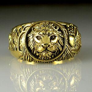 Antique Lion Head Gold Ring