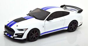 1:18 Solido Ford Mustang Shelby GT 500 Fast Track white/blue