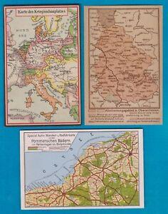 3 alte Orig.AK--Oberschlesien-Pommern-Europa