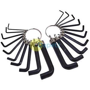 Boîte à Outils Clé Allen Ring Set 20pc Hex Set Imperial /& Métrique AF mm 1.5 mm 10 mm