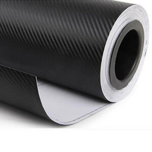 12-034-x50-034-3D-schwarz-Carbon-Fiber-Vinyl-Auto-Wrap-Folie-Roll-Film-Sticker-Decal-Sales