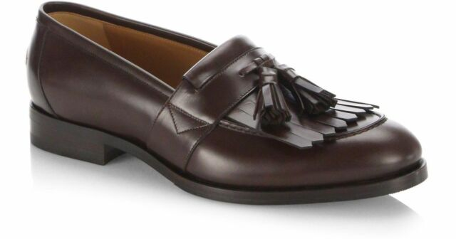 ca5ecee88 100% AUTH NEW MEN GUCCI QUEERCORE BROWN LEATHER TASSEL DRIVERS/LOAFERS UK 8/