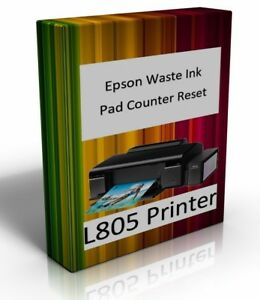 Details about Epson Printer L805 Waste Ink Pad Counter Reset Error  Correction Software CD
