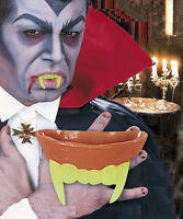 Neon Dracula Vampir Gebiss Zähne Prothese Halloween Karneval Horror Leuchtend