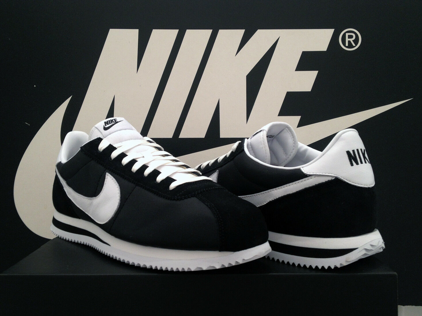 DS 2018 Nike Cortez Cortez Nike Basic ID UK11 EU46 Nero Nylon OG Compton Kendrick Gump RARO 6820f3