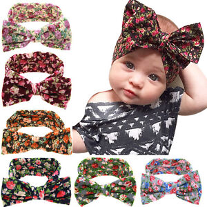 EG-Baby-Toddler-Girl-Sweet-Floral-Bowknot-Wide-Turban-Headband-Head-Hair-Band-C