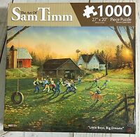 Sam Timm Little Boys Big Dreams 1000 Pc. Puzzle Playing Football In Country