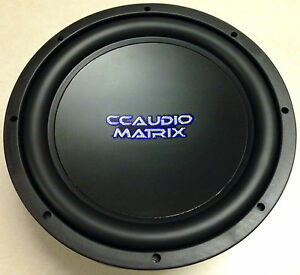 CCAUDIO Matrix 10'' Dual 4ohm Voice Coil Subwoofer Sub 400 Watts Rms NEW w/Grill