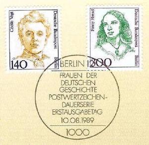Soigneux Berlin 1989: Cécile Vogt Et Fanny Hensel Nº 848 Et 849! 40 €! 1a! 157-afficher Le Titre D'origine Les Couleurs Sont Frappantes