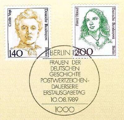 Nett Berlin 1989: Cecile Vogt Und Fanny Hensel Nr. 848 Und 849! 40 €! 1a! 157 Rabatte Verkauf