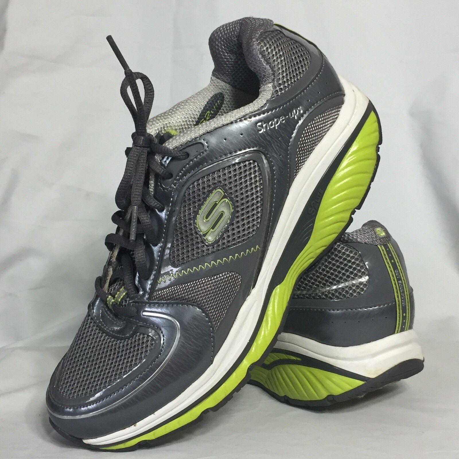 Skechers Shape Ups S2 Lite Größe 9.5 Gray Green Rocker Toning Walking Sneakers