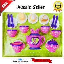 Disney Minnie Tea Set 13pcs Teapot//Cup//Plate//Spoon Pretend Role Play Toy