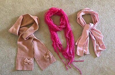 Contemplativo Le Ragazze Sciarpe Bundle Rosa X 3 Zara-mostra Il Titolo Originale Alleviare I Reumatismi