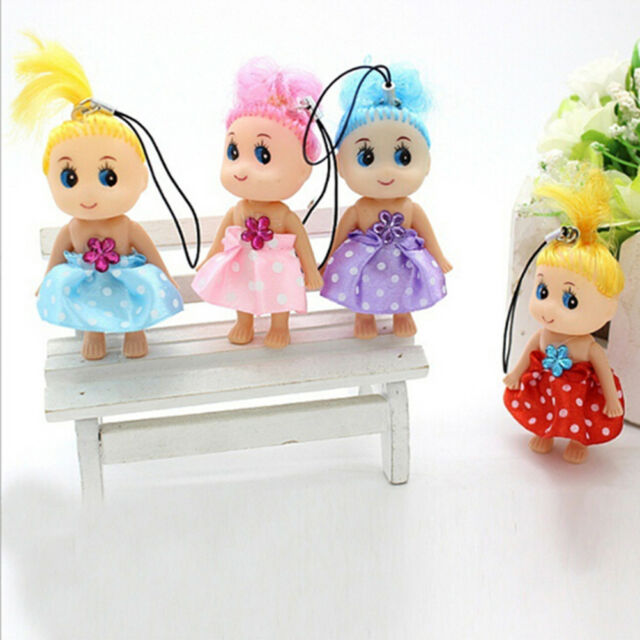 3x Baby Mini Ddung Doll Toy Confused Doll Key Chain Phone Pendant Ornament CN